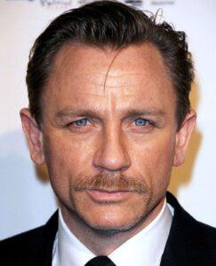 Daniel Craig with mustache