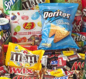 Bad, unhealthy snacks