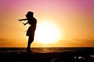 Woman posing in the sun